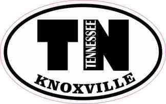 Oval TN Knoxville Tennessee Sticker
