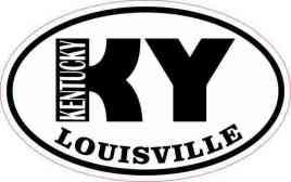 Oval KY Louisville Kentucky Sticker