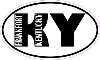 Oval KY Frankfort Kentucky Sticker