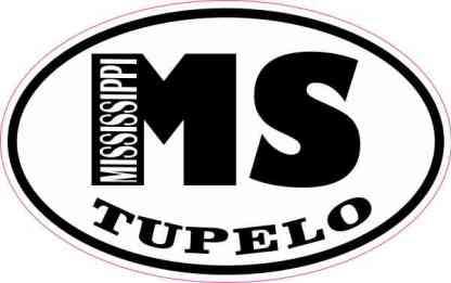 Oval MS Tupelo Mississippi Sticker