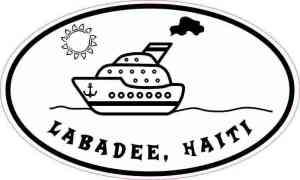 Cruise Ship Oval Labadee Haiti Sticker