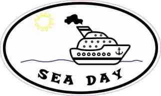 Oval Sea Day Sticker