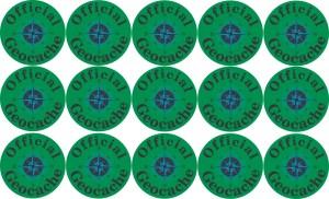 Official Geocache Permanent Vinyl Stickers
