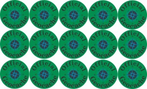 Official Geocache Permanent Vinyl Stickers
