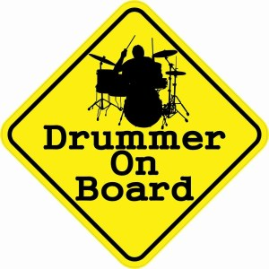 Drummer On Board Magnet
