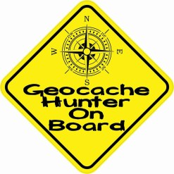 Geocache Hunter On Board Magnet