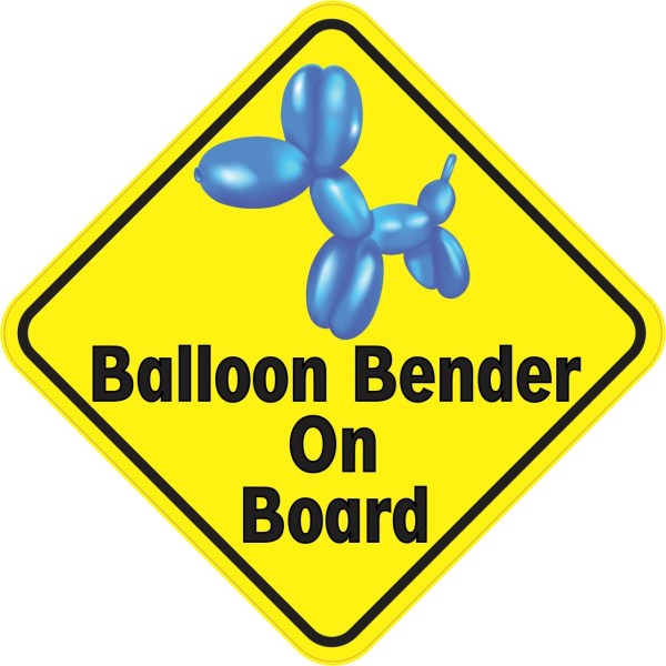 Balloon Bender On Board Sticker