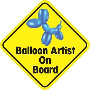 Balloon Artist On Board Sticker