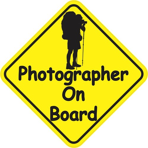 Photographer On Board Sticker