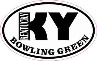 Oval KY Bowling Green Kentucky Sticker