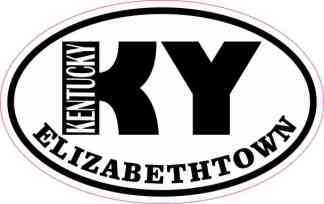 Oval KY Elizabethtown Kentucky Sticker