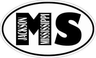 Oval MS Jackson Mississippi Sticker