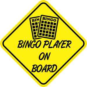 Bingo Player On Board Sticker