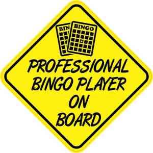 Professional Bingo Player On Board Sticker