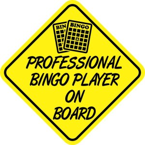 Professional Bingo Player On Board Magnet