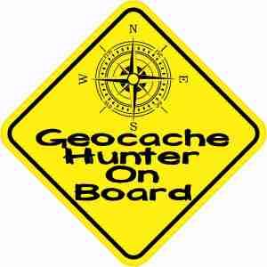 Geocache Hunter On Board Sticker