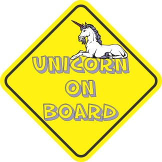 Unicorn On Board Magnet