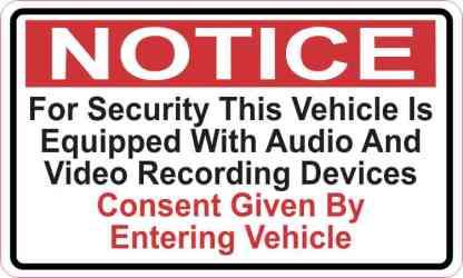Audio And Video Recording Consent Sticker