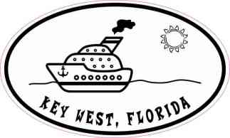 Cruise Ship Oval Key West Sticker
