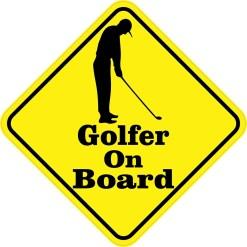 Golfer On Board Sticker