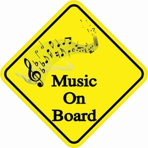 Music On Board Magnet