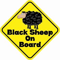 Black Sheep On Board Magnet
