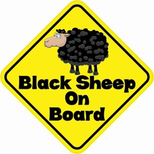 Black Sheep On Board Magnet