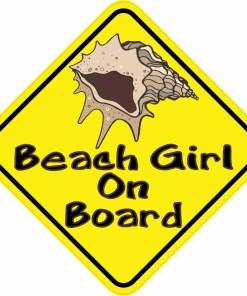 Beach Girl On Board Magnet