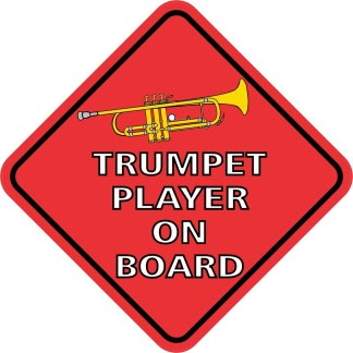Trumpet Player On Board Magnet