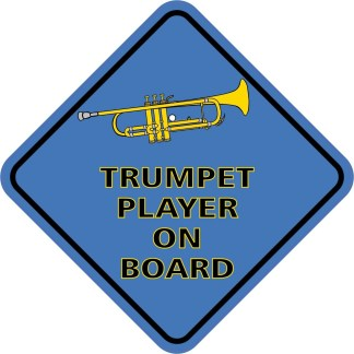 Blue Trumpet Player On Board Magnet