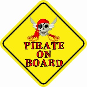 Pirate On Board Magnet