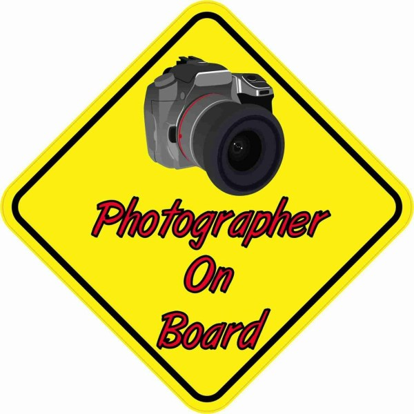 Camera Photographer On Board Magnet