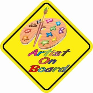 Artist On Board Magnet
