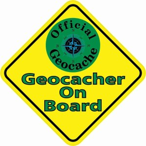 Geocacher On Board Magnet