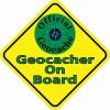 Geocacher On Board Magnet