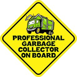 Professional Garbage Collector On Board Magnet