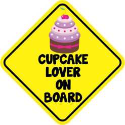Cupcake Lover On Board Magnet