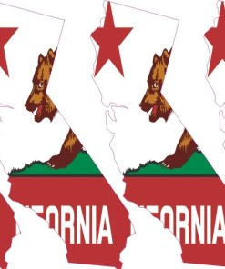 Die Cut California Flag Stickers