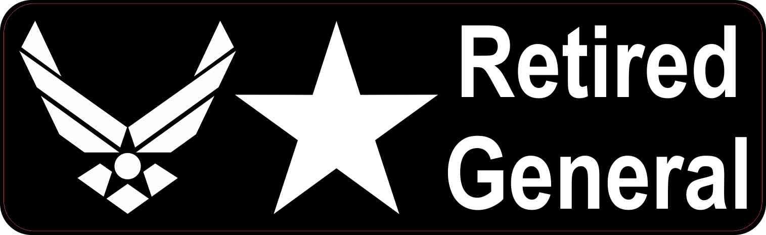 Air Force Brigadier General Retired General Sticker
