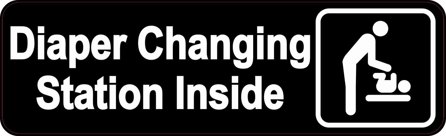 Men's Restroom Diaper Changing Station Inside Magnet