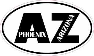 Oval AZ Phoenix Arizona Sticker