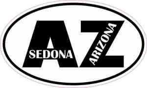 Oval AZ Sedona Arizona Sticker