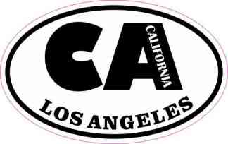 Oval CA Los Angeles California Sticker