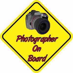 Camera Photographer On Board Sticker
