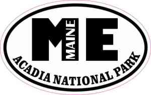Oval ME Acadia National Park Maine Sticker