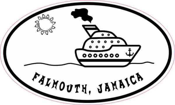 Cruise Ship Oval Falmouth Sticker