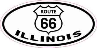 Oval Route 66 Illinois Sticker