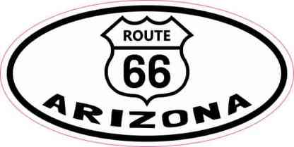 Oval Route 66 Arizona Sticker