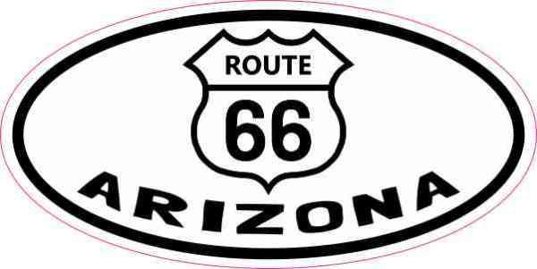 Oval Route 66 Arizona Sticker
