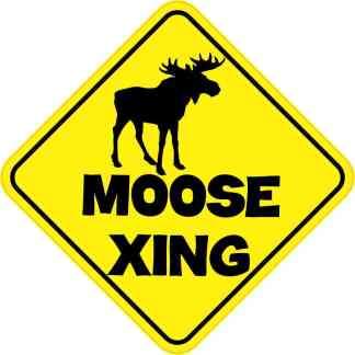 6in x 6in moose crossing sticker stickertalk